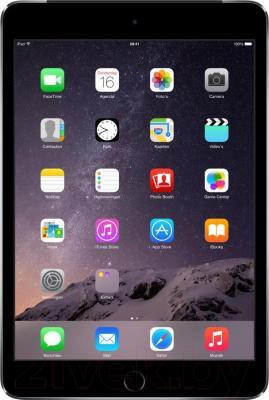 Планшет Apple iPad Mini 3 64Gb / MGGQ2TU/A (серый) - фронтальный вид