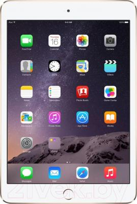 Планшет Apple iPad Mini 3 128Gb / MGYK2TU/A (золотой) - фронтальный вид