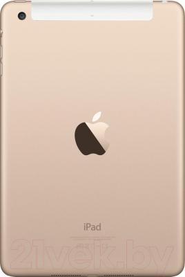 Планшет Apple iPad Mini 3 64Gb 4G / MGYN2TU/A (золотой) - вид сзади