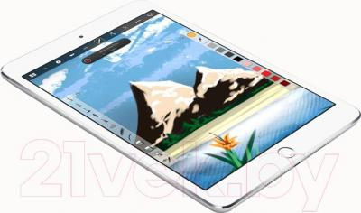 Планшет Apple iPad Mini 3 128Gb 4G / MGJ32TU/A (серебристый) - общий вид