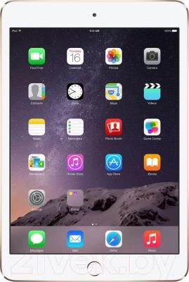 Планшет Apple iPad Mini 3 128Gb 4G / MGYU2TU/A (золотой) - фронтальный вид