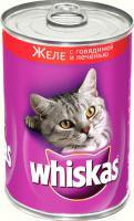 Корм для кошек Whiskas Желе с говядиной и печенью (24x400g) -
