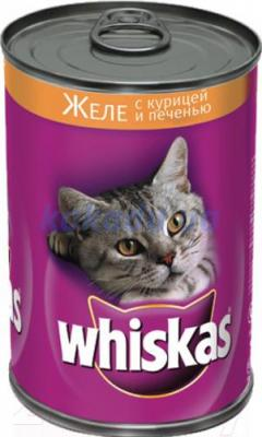 Корм для кошек Whiskas Желе с курицей и печенью (24x400g) - общий вид