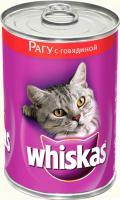 Корм для кошек Whiskas Рагу с говядиной (24x400g) -
