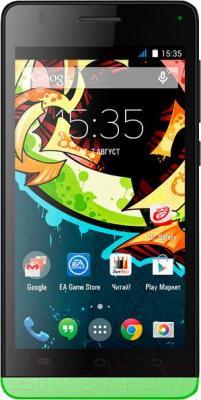 Смартфон Explay Tornado (зеленый) - общий вид