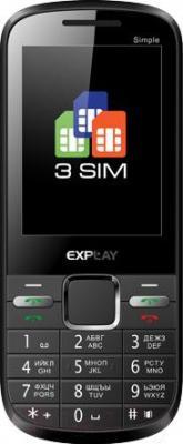 Мобильный телефон Explay Simple (черный) - общий вид