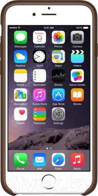 Накладной чехол Apple iPhone 6 Leather Case MGR22ZM/A (коричневый) - вид спереди