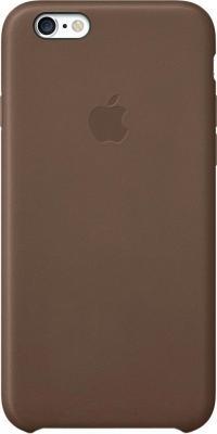 Накладной чехол Apple iPhone 6 Leather Case MGR22ZM/A (коричневый) - общий вид