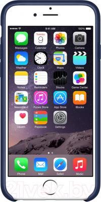 Накладной чехол Apple iPhone 6 Leather Case MGR32ZM/A (темно-синий) - вид спереди