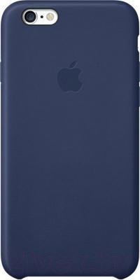 Накладной чехол Apple iPhone 6 Leather Case MGR32ZM/A (темно-синий) - общий вид