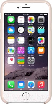 Накладной чехол Apple iPhone 6 Leather Case MGR52ZM/A (светло-розовый) - вид спереди