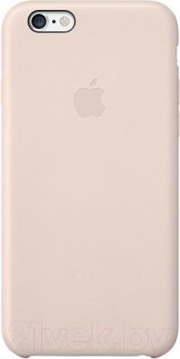 Накладной чехол Apple iPhone 6 Leather Case MGR52ZM/A (светло-розовый) - общий вид