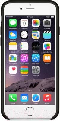 Накладной чехол Apple iPhone 6 Leather Case MGR62ZM/A (черный) - вид спереди