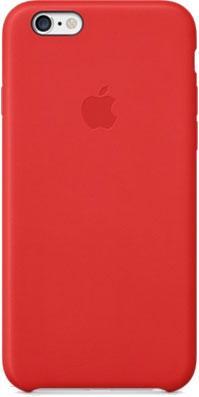 Накладной чехол Apple iPhone 6 Leather Case MGR82ZM/A (красный) - общий вид