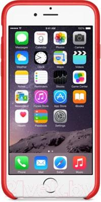 Накладной чехол Apple iPhone 6 Leather Case MGR82ZM/A (красный) - вид спереди