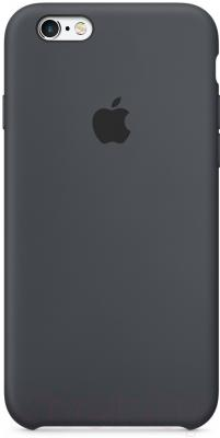 Чехол-бампер Apple iPhone 6 Silicone Case Black (MGQF2ZM/A)