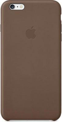 Накладной чехол Apple iPhone 6 Plus Leather Case MGQR2ZM/A (коричневый) - общий вид