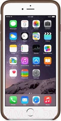 Накладной чехол Apple iPhone 6 Plus Leather Case MGQR2ZM/A (коричневый) - вид спереди