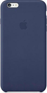 Накладной чехол Apple iPhone 6 Plus Leather Case MGQV2ZM/A (темно-синий) - общий вид
