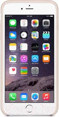 Накладной чехол Apple iPhone 6 Plus Leather Case MGQW2ZM/A (светло-розовый) - вид спереди