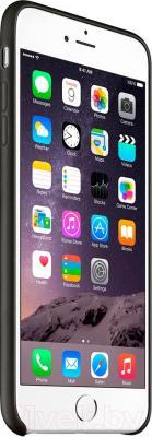 Накладной чехол Apple iPhone 6 Plus Leather Case MGQX2ZM/A (черный) - вид сбоку