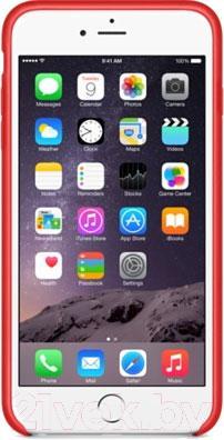 Накладной чехол Apple iPhone 6 Plus Leather Case MGQY2ZM/A (красный) - вид спереди