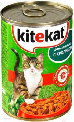 Корм для кошек Kitekat Кролик в соусе (24x410g) - общий вид