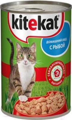 Корм для кошек Kitekat Рыба в соусе (24x410g) - общий вид