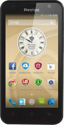 Смартфон Prestigio MultiPhone 3450 Duo (черный) - общий вид