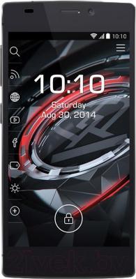 Смартфон Prestigio MultiPhone 7557 Grace (черный) - общий вид
