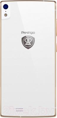 Смартфон Prestigio MultiPhone 7557 Grace (белый) - вид сзади