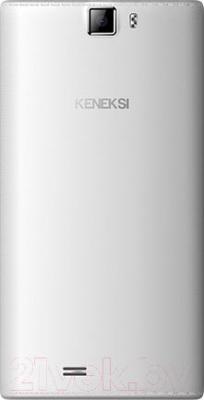 Смартфон Keneksi Crystal (белый) - вид сзади