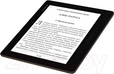 Электронная книга PocketBook InkPad 840 (темно-коричневый) - вид лежа