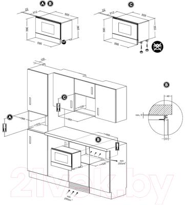 Микроволновая печь Teka MWL 22 EGL (белый) - схема