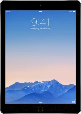 Планшет Apple iPad Air 2 128Gb / MGTX2TU/A (серый) - фронтальный вид