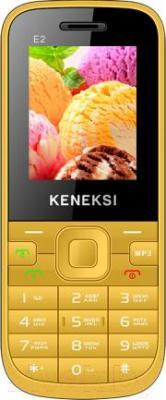 Мобильный телефон Keneksi E2 (желтый) - общий вид