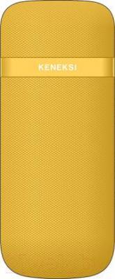 Мобильный телефон Keneksi E2 (желтый) - вид сзади