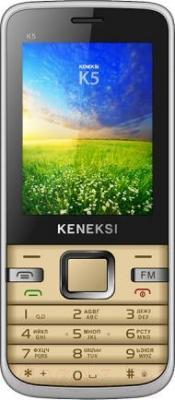 Мобильный телефон Keneksi K5 (золотой) - общий вид