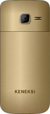 Мобильный телефон Keneksi K5 (золотой) - вид сзади