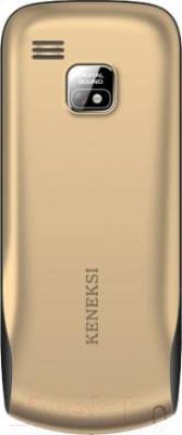 Мобильный телефон Keneksi S9 (золотой) - вид сзади