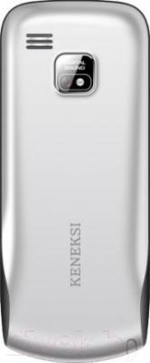 Мобильный телефон Keneksi S9 (серебристый) - вид сзади