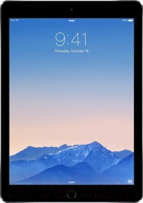 Планшет Apple iPad Air 2 16Gb 4G / MGGX2TU/A (серый) - фронтальный вид
