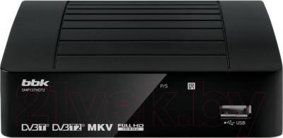 Тюнер цифрового телевидения BBK SMP137HDT2 (черный) - общий вид
