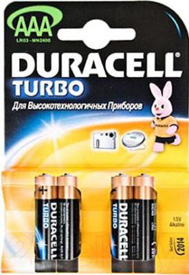 Батарейки ААА Duracell Turbo LR03 (4шт) - общий вид