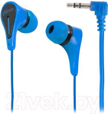 Наушники Ritmix RH-012 (синий) - общий вид