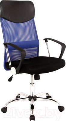 Кресло офисное Signal Q-025 (черно-синий) - общий вид