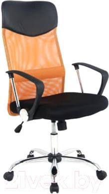 Кресло офисное Signal Q-025 (черное-оранжевый) - общий вид