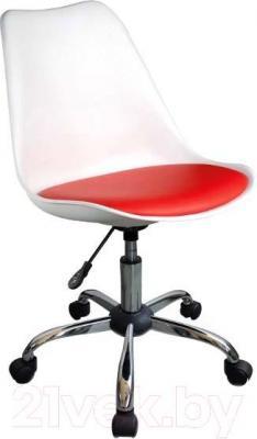 Кресло офисное Signal Q-777 (White-Red) - общий вид