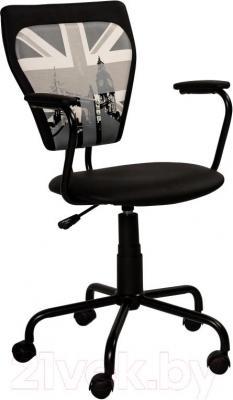 Кресло офисное Signal Q-135 (Black with Patterned) - общий вид