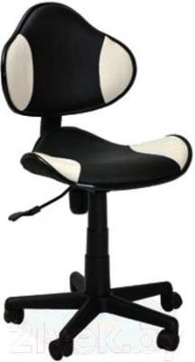 Кресло офисное Signal Q-G2 (White-Black, экокожа) - общий вид